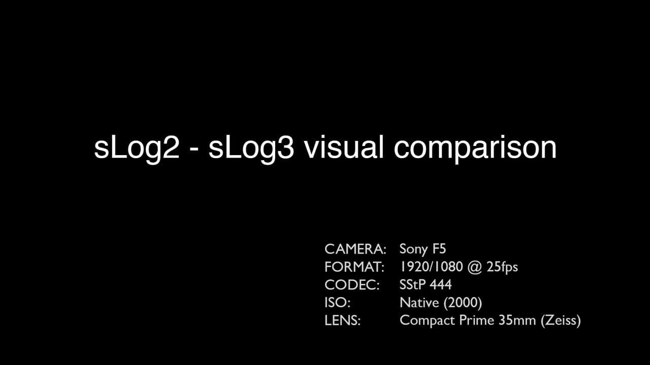 Βίντεο σε S-Log2 και S-Log3 Χρώματα