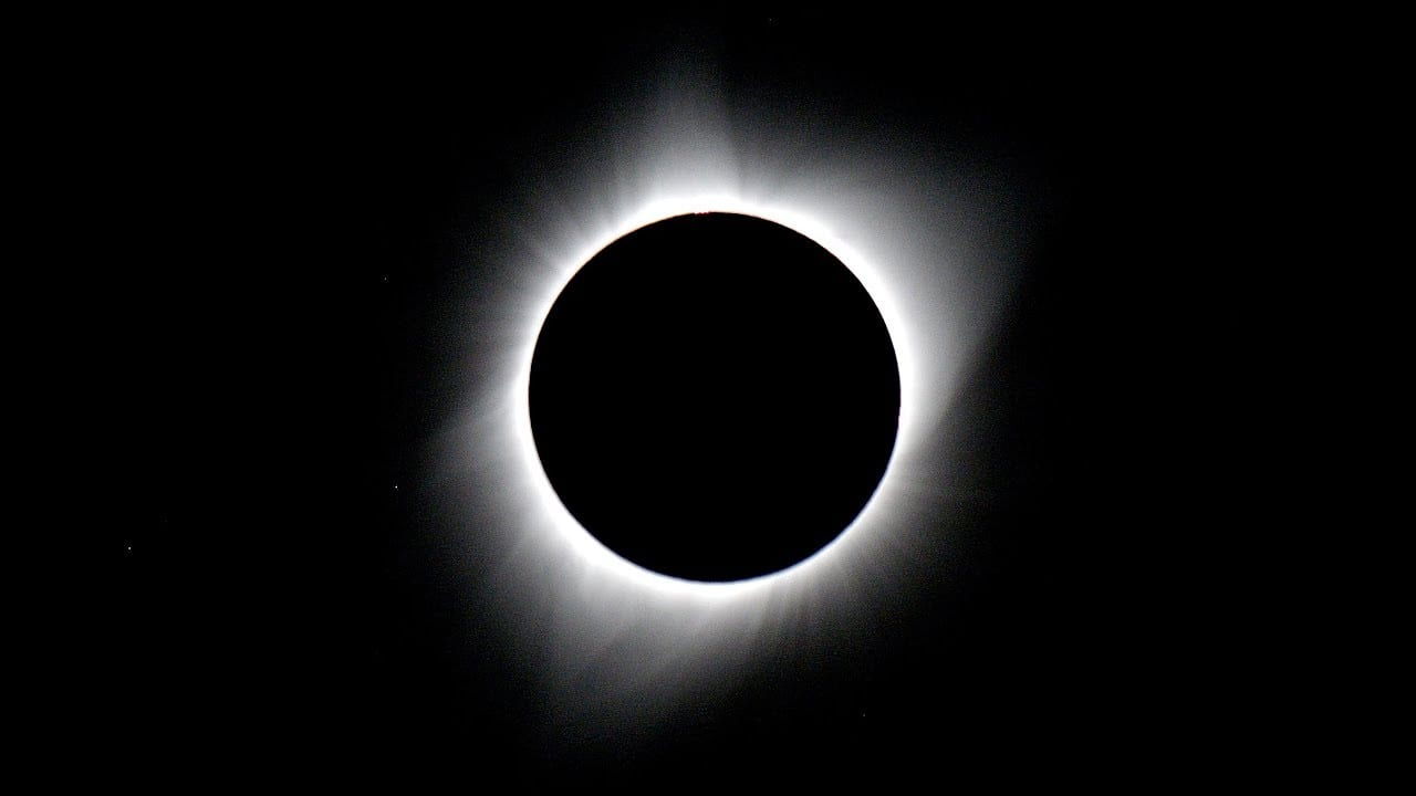 2017 North America Total Solar Eclipse Close-up Real-time 4K