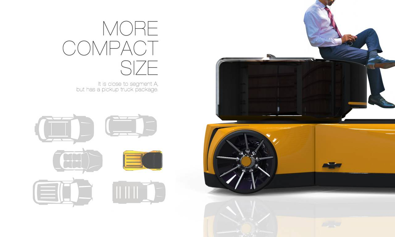 Mini Square Concept Pickup Truck