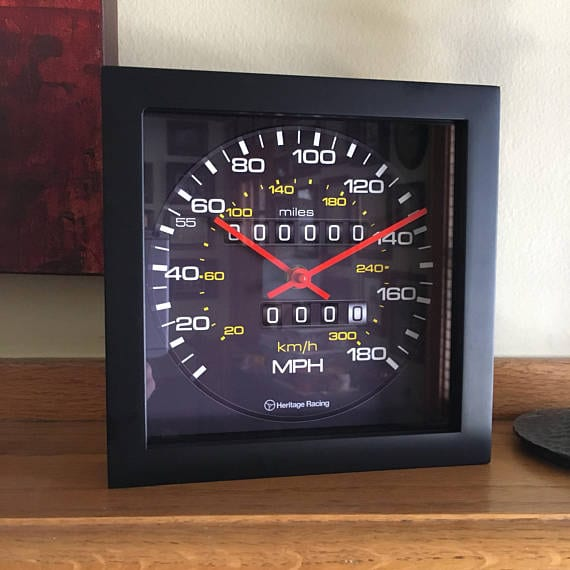 Audi Sport Quattro Speedometer Clock