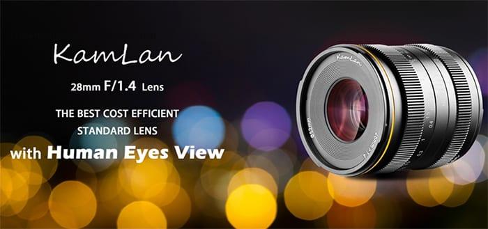 Kamlan 28mm f/1.4 E-mount