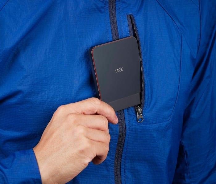 Μικρό νέο φορητό LaCie SSD