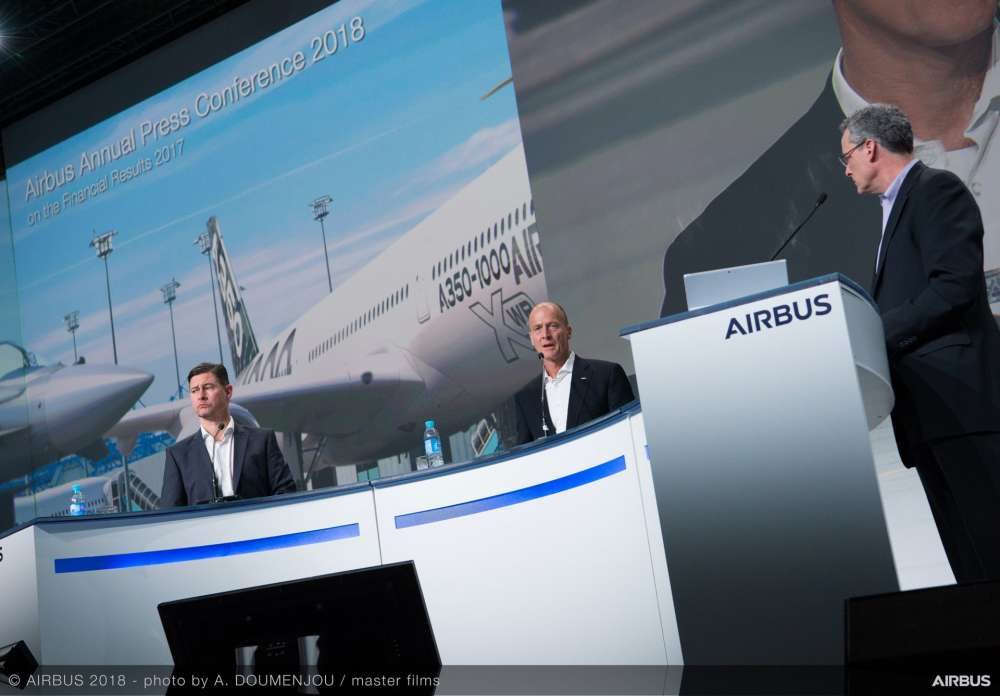 Airbus Annual Press Conference on 2018
