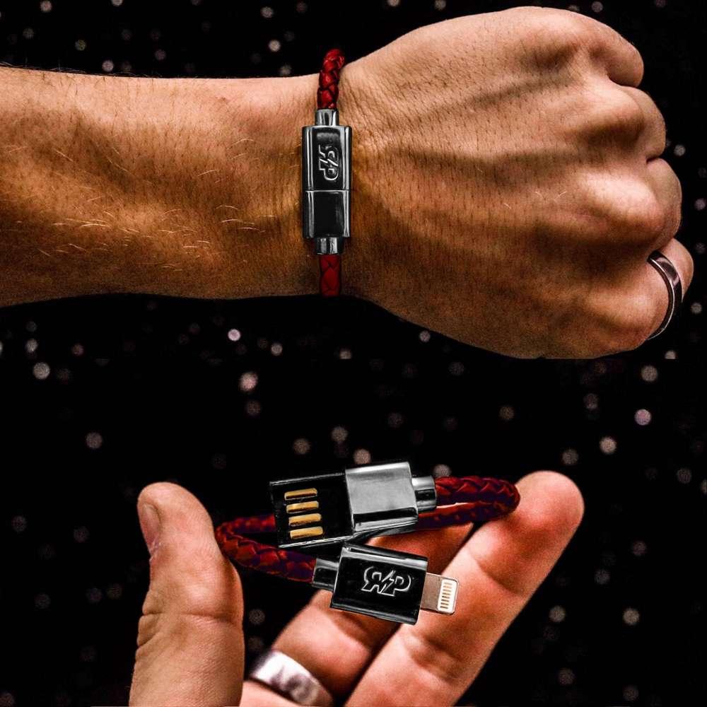 Black & Silver Charging Cable Bracelet
