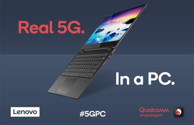 Computex 2019 – Qualcomm + Lenovo 5G laptop
