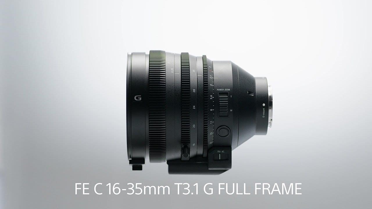 Η νέος κινηματογραφικός φακός Sony FE C 16-35mm T3.1 G