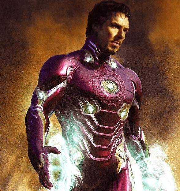 Stephen Strange + Στολή Iron Man σε concept art