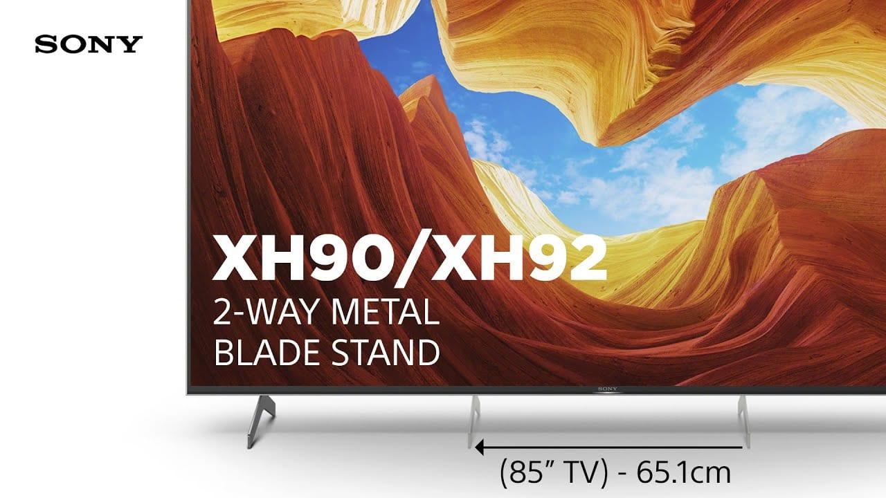 To έξυπνο μεταλλικό διπλής θέσης stand των Sony XH90 / XH92