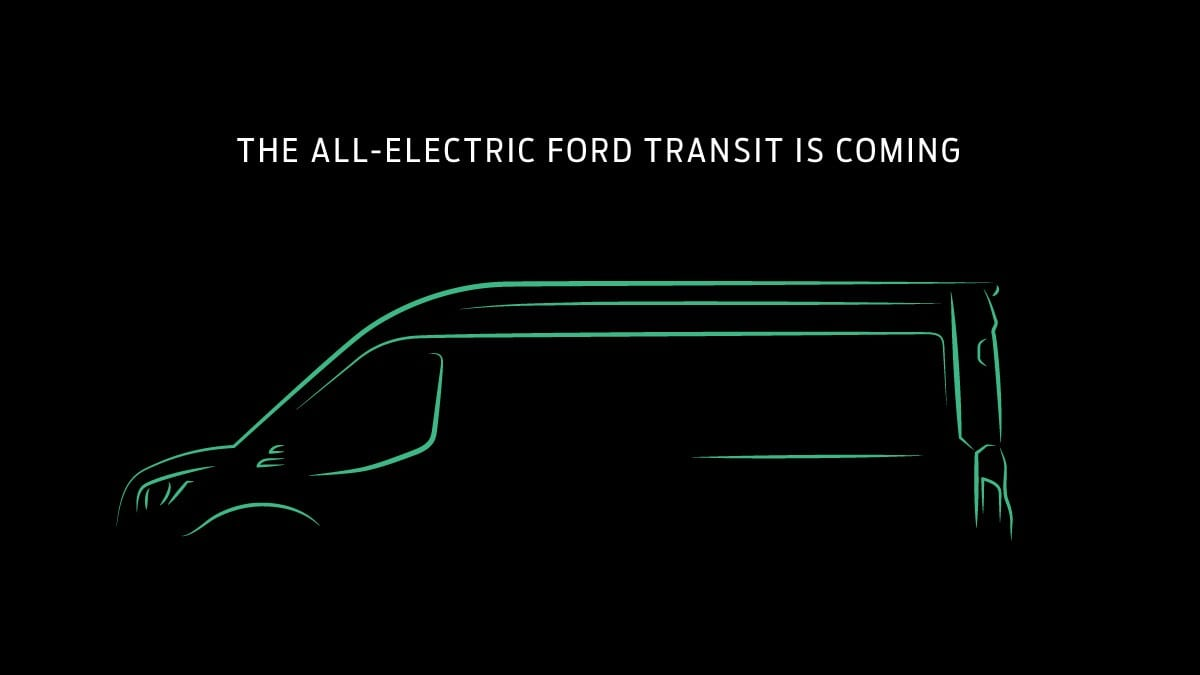 2020 Ford all-electric Transit