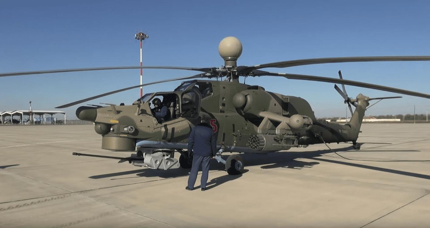 To Ми-28УБ σε πτήση