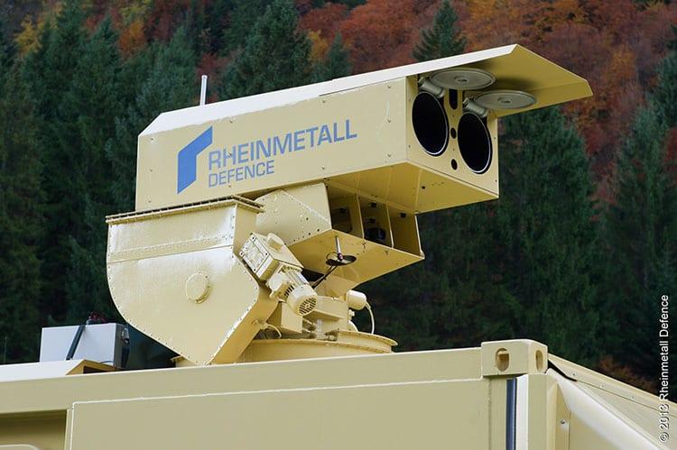 Rheinmetall High-energy laser effectors HEL
