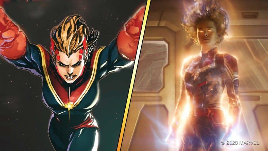 Captain Marvel – Ταινία Vs Comics