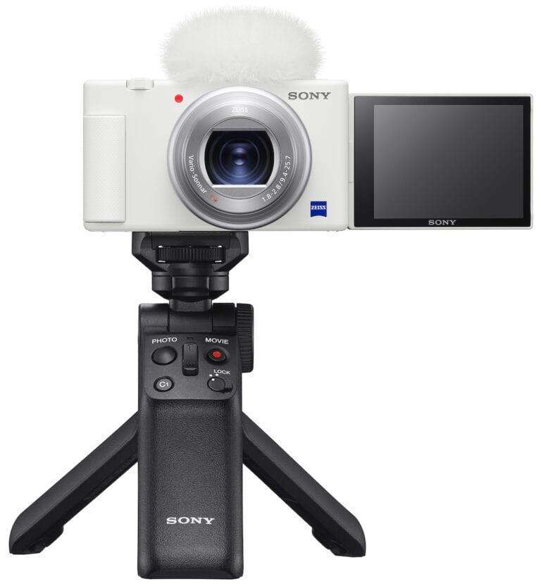 Μια λευκή Sony ZV-1