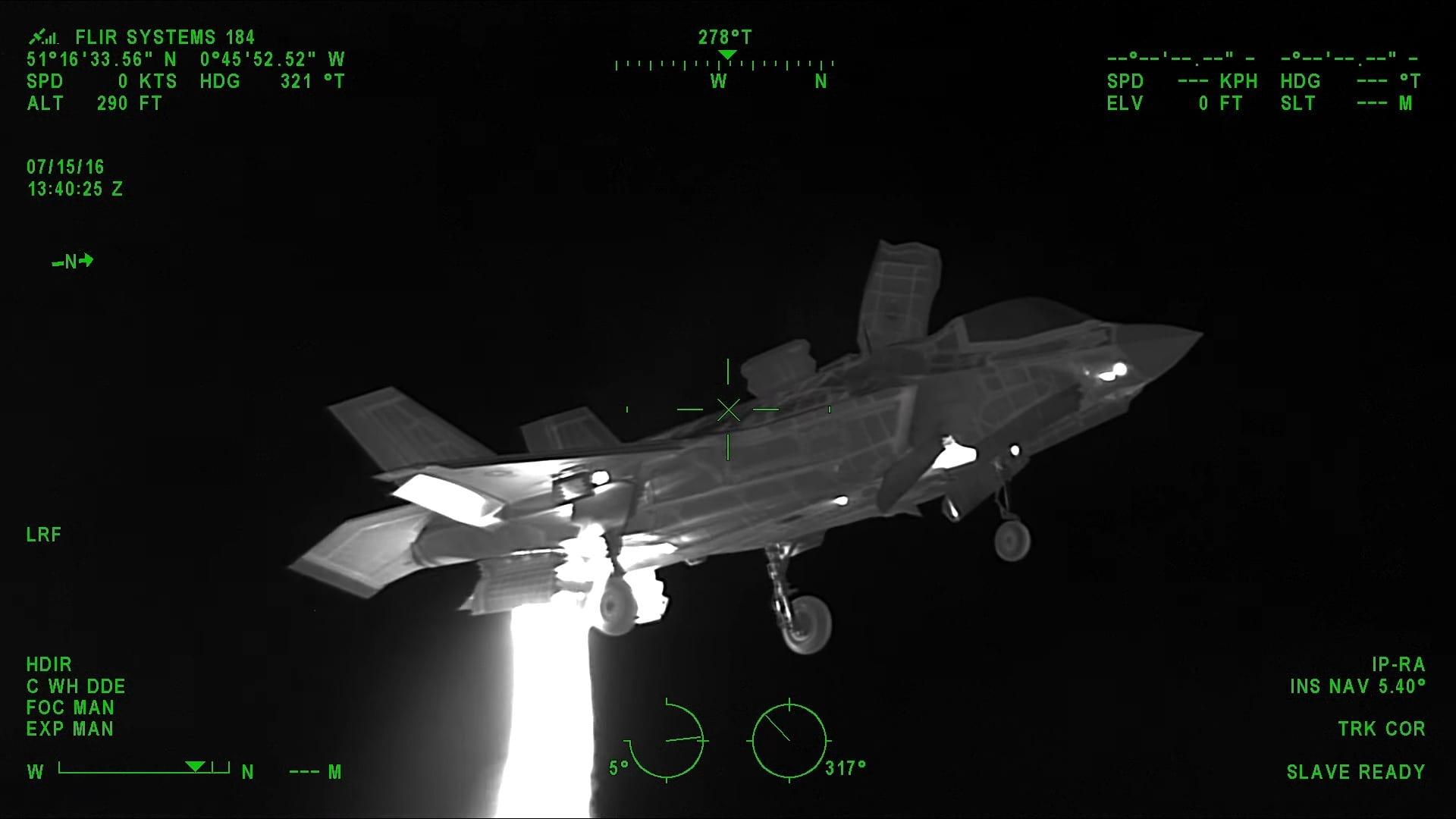 Το F-35B μέσα από θερμική FLIR κάμερα!