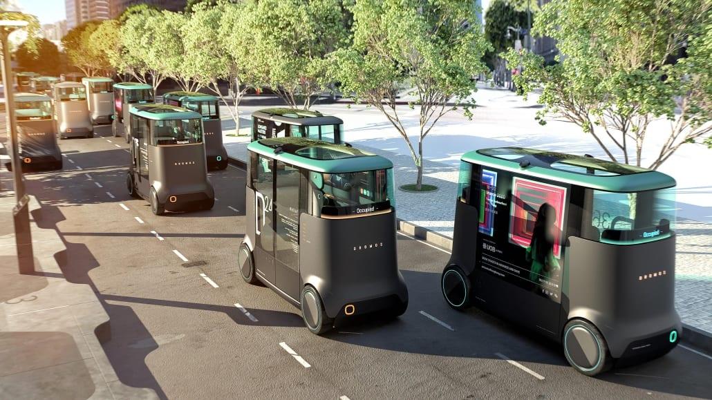 PriestmanGoode x Dromos Technologies Electric Autonomous Vehicle