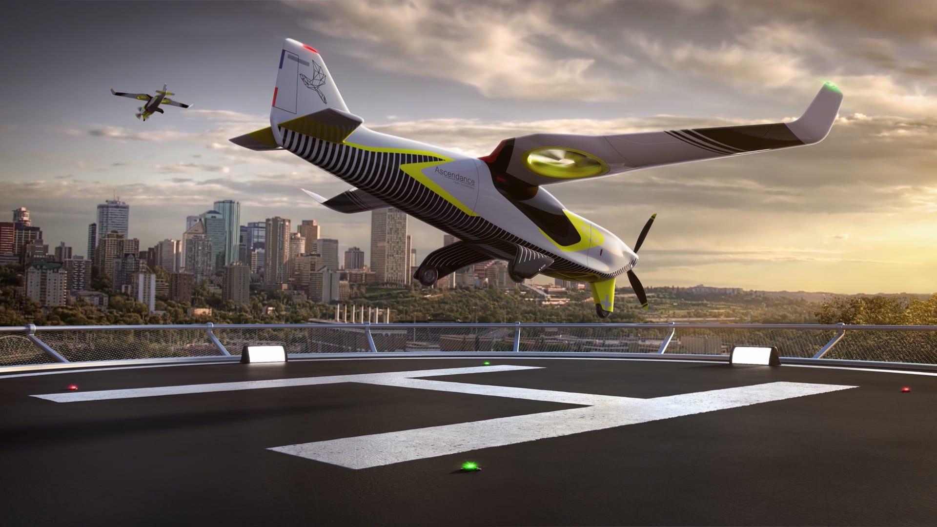 Ascendance low-emission hybrid VTOL Εναέρια Ταξί