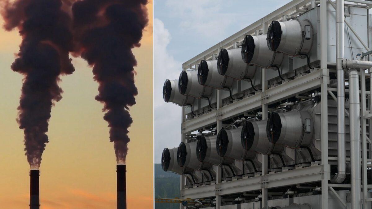 Μια ηλεκτρική σκούπα CO2